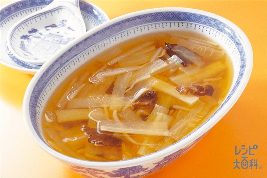大根ともやしのスープ