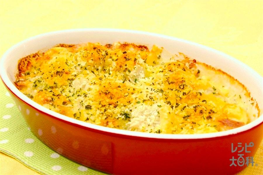 里いもとツナのチーズグラタン