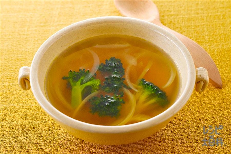 ブロッコリーと玉ねぎのスープ