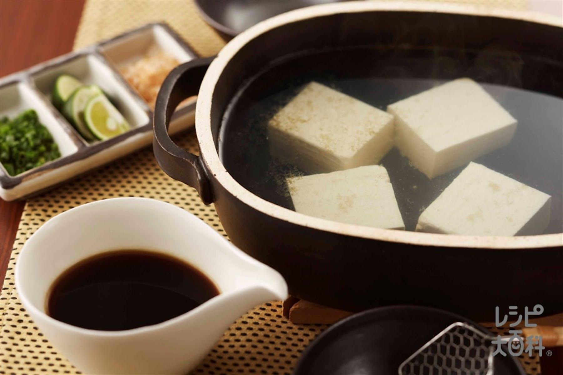 簡単湯豆腐