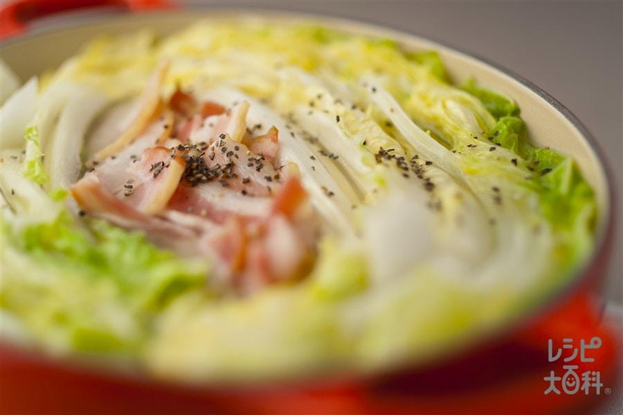 白菜とベーコンの鍋