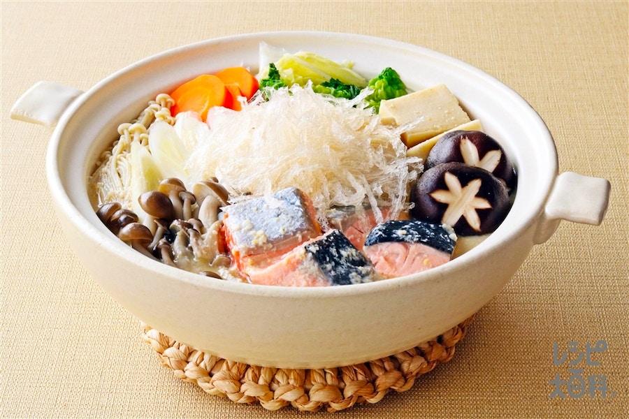 寒天入り酒粕鍋