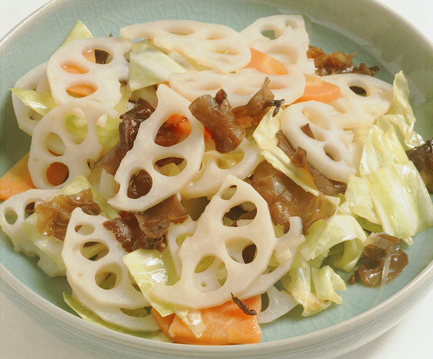れんこんの中華サラダ