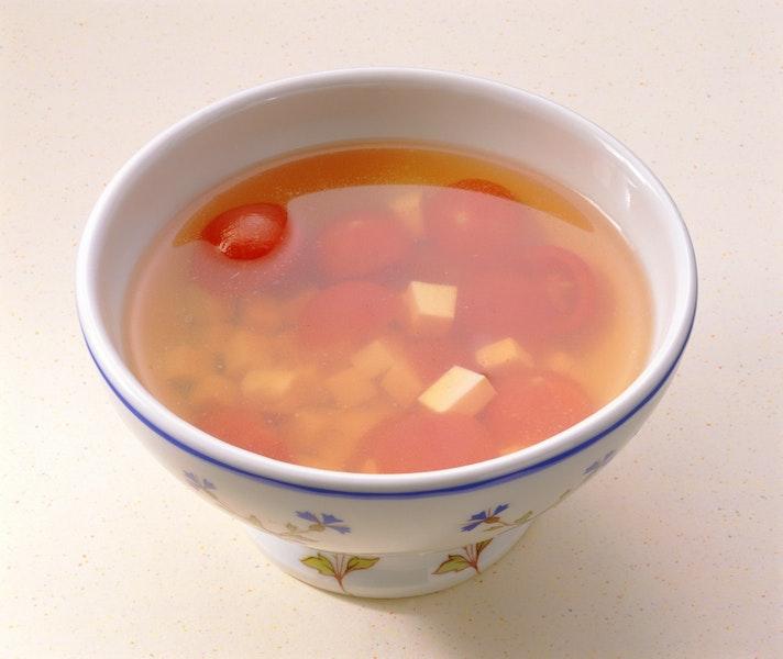 トマトととうふのスープ