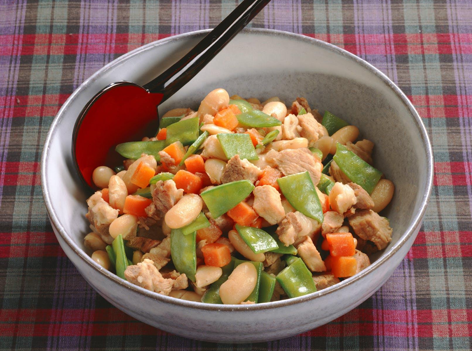 豚肉といんげん豆の煮もの