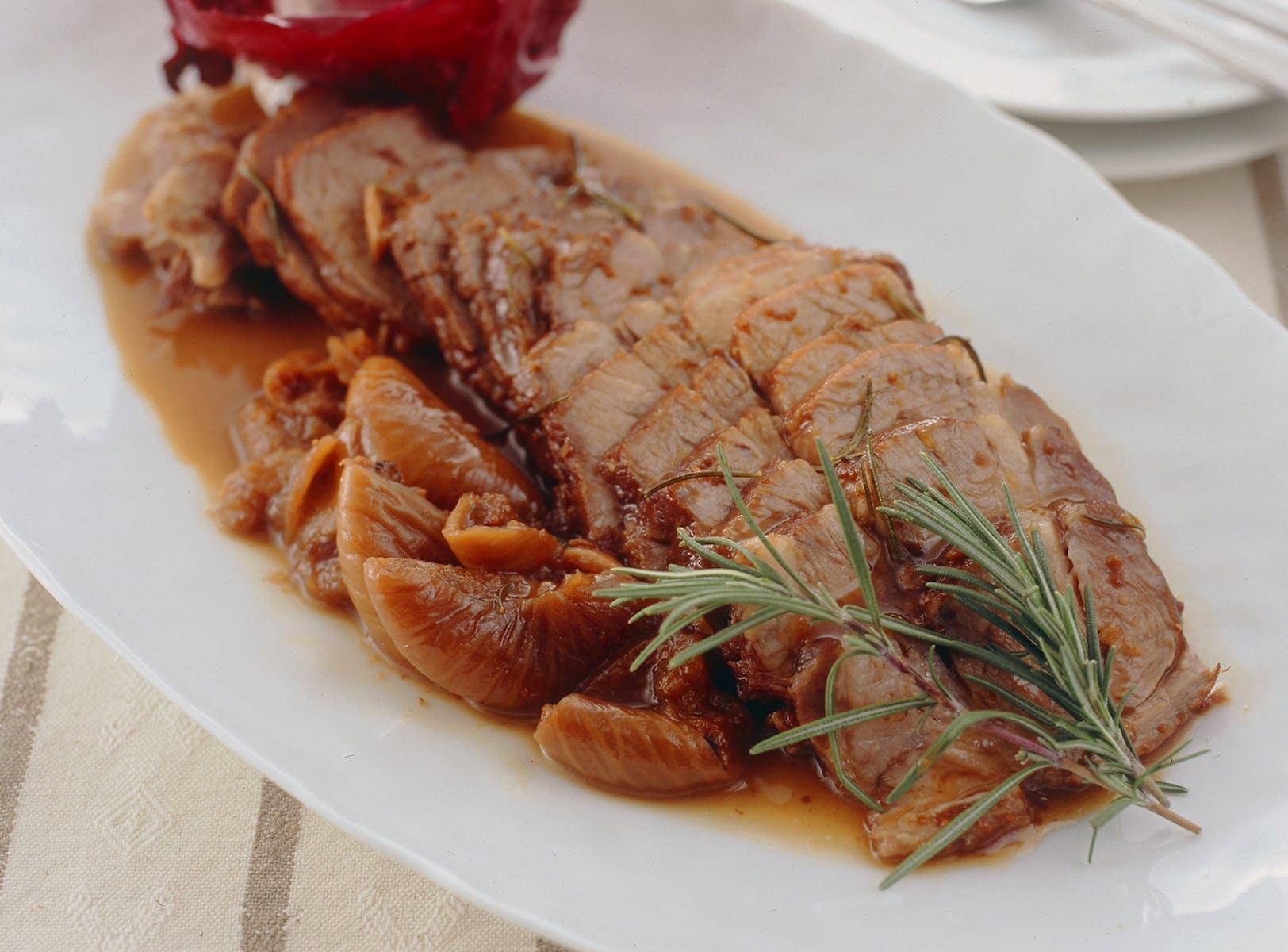 豚肉といちじくの赤ワイン煮