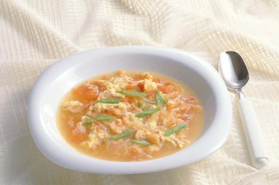 トマトの卵とじスープ