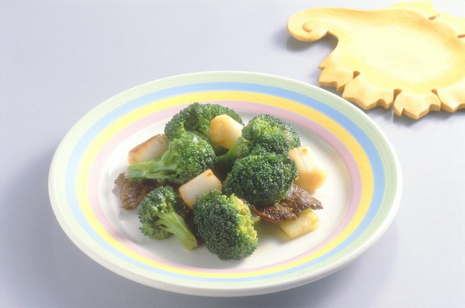 ブロッコリーと牛肉のいり煮