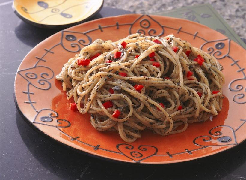 黒ごまのスパゲティ