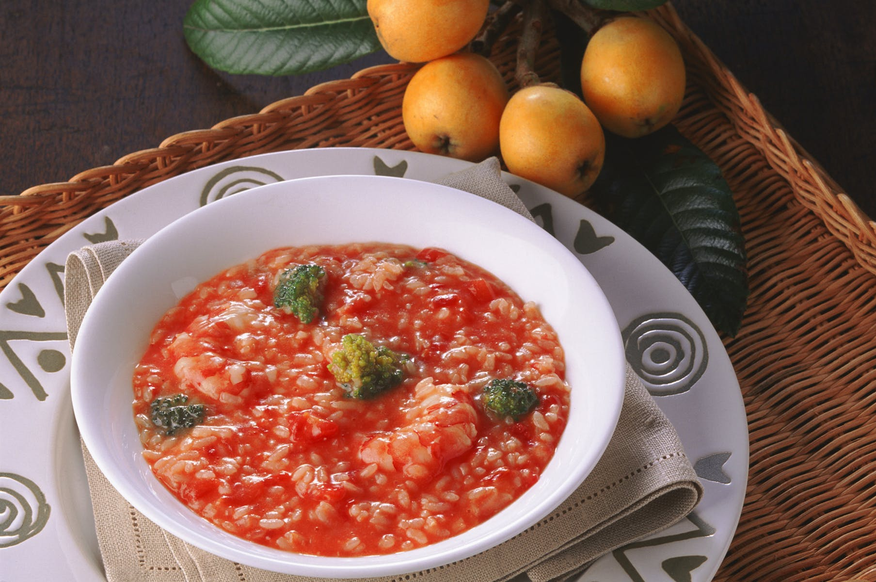 トマト味のリゾット