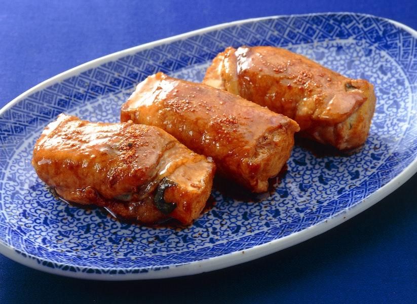 生揚げの豚肉ロール