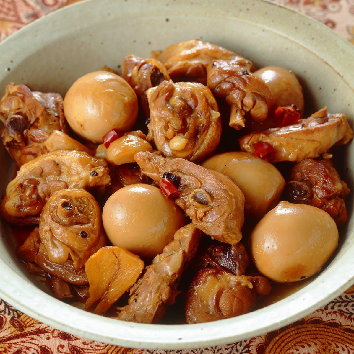 とり肉と卵のピリ辛煮