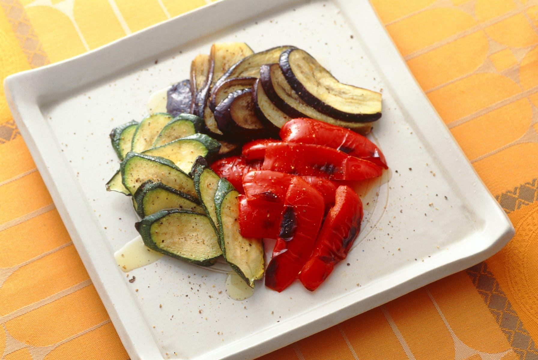 野菜のグリル オリーブ油かけ
