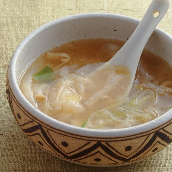 春巻きの皮の中華スープ