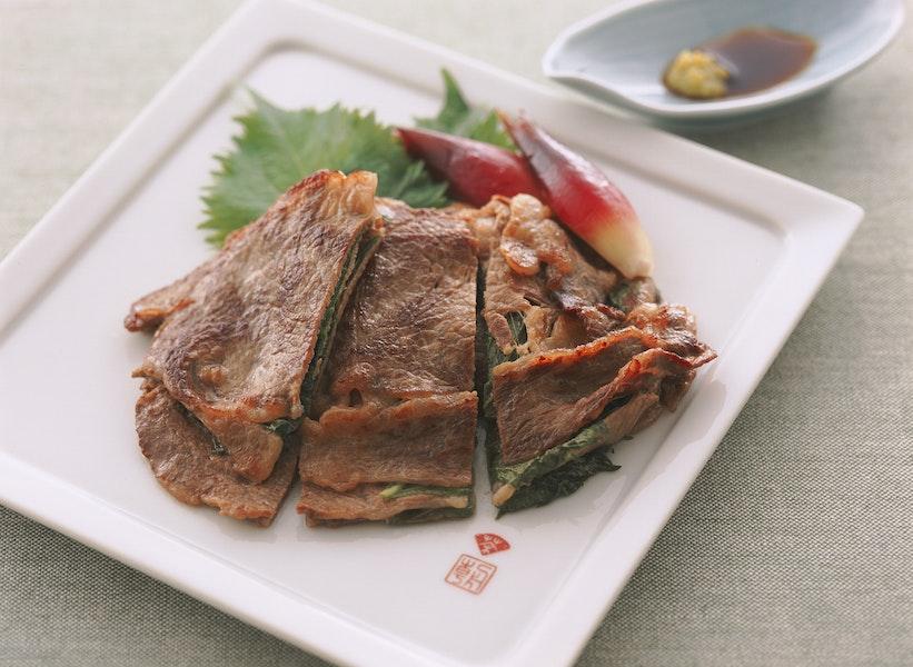 牛肉と大葉の重ね焼き