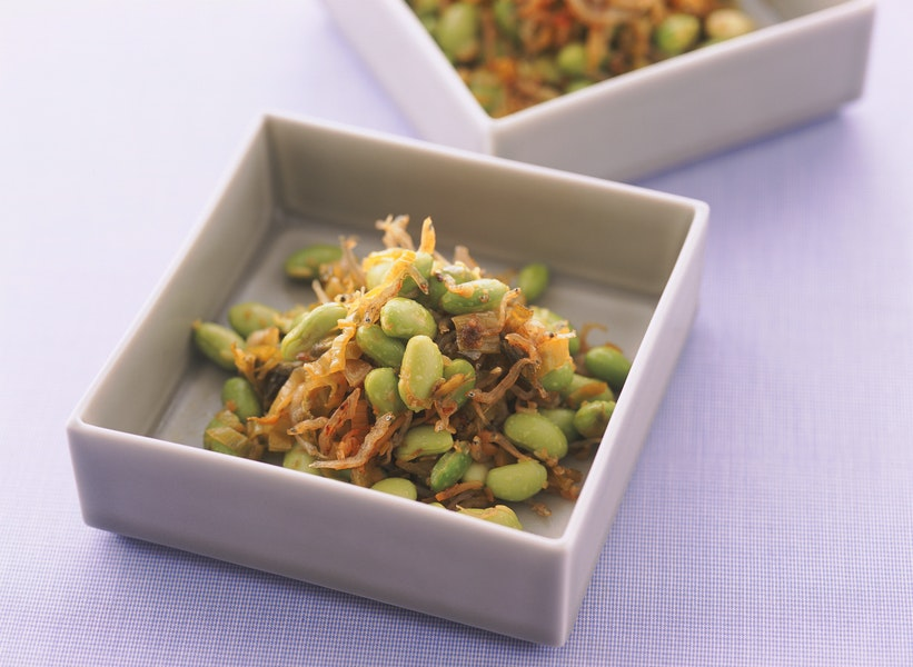 枝豆と高菜のいため煮