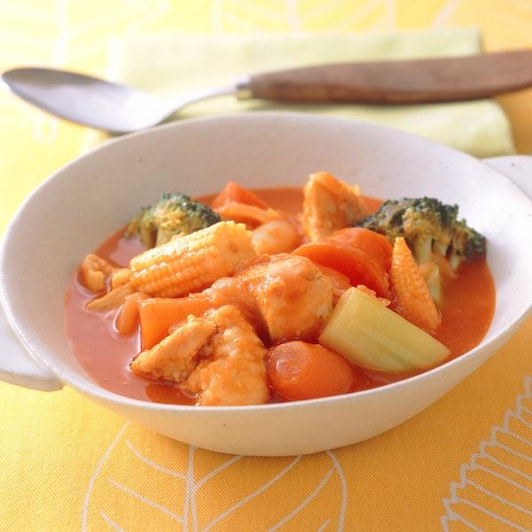 にんじんととり肉の野菜ジュース煮