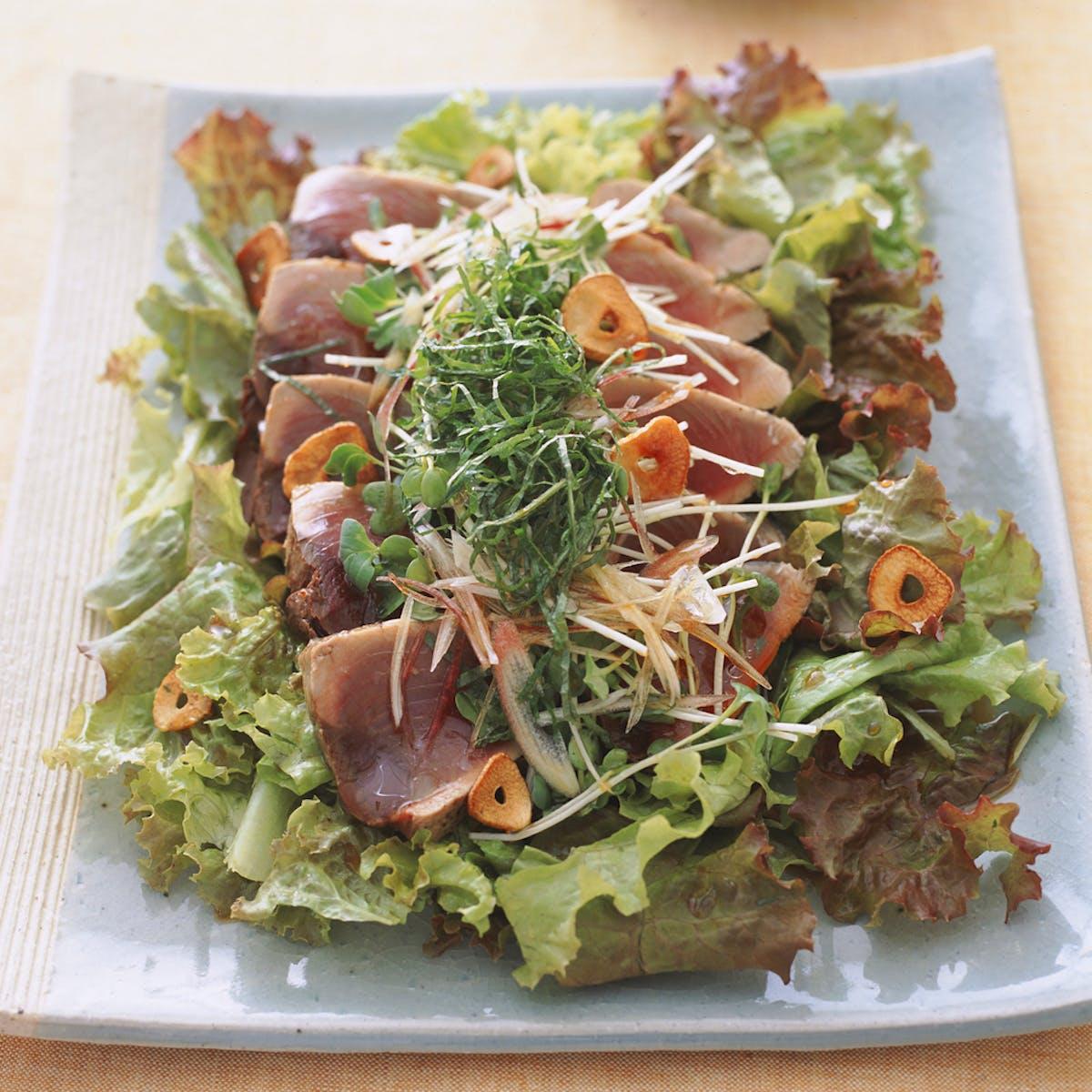 かつおと香味野菜のサラダ風
