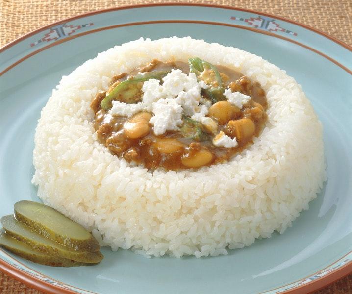 豆とひき肉のカレー