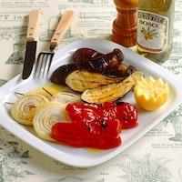 焼き野菜のオリーブ油かけ