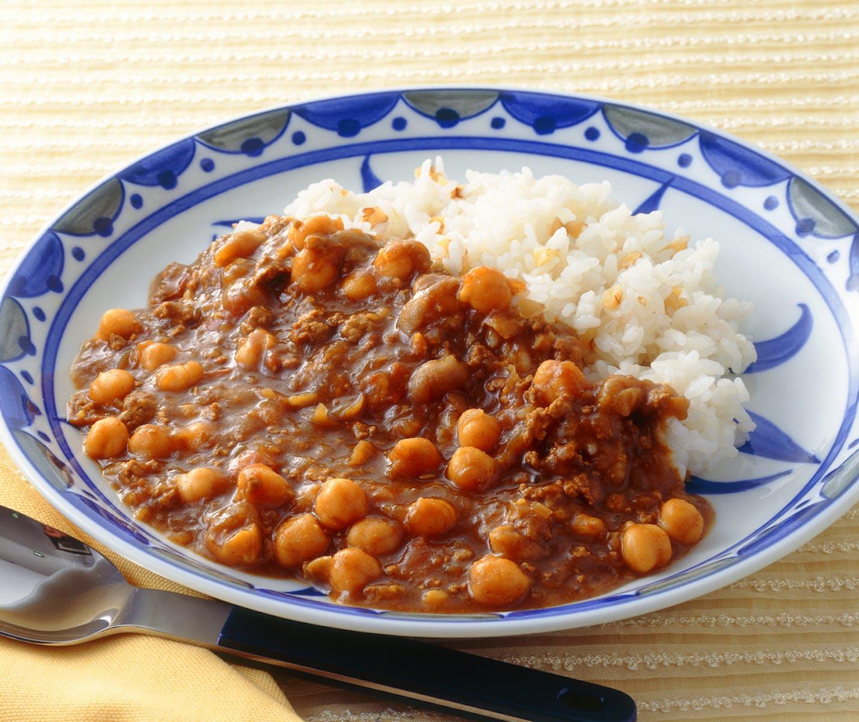 ひよこ豆のカレー&くるみライス