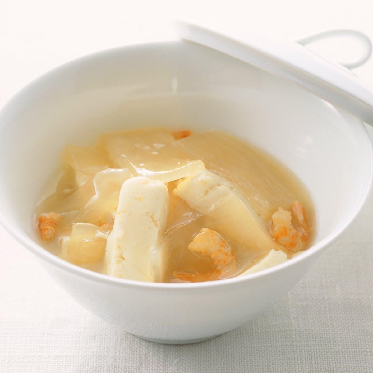 だいこんととうふのスープ煮