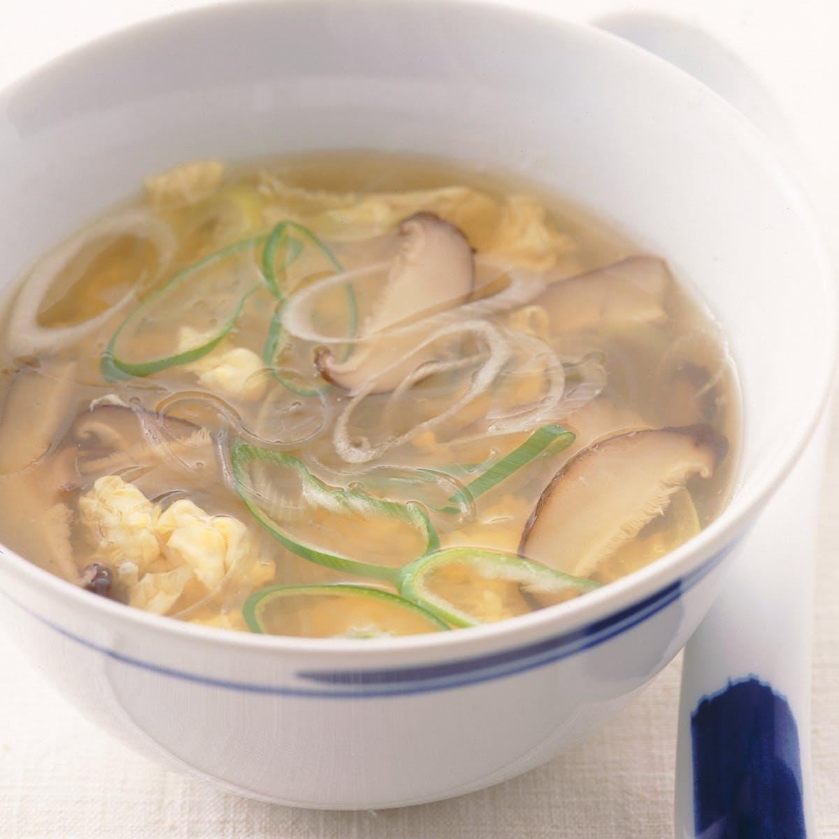 しいたけとはるさめのスープ