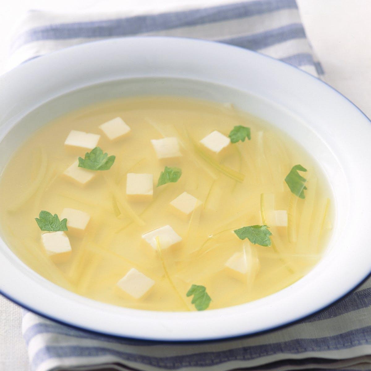 とうふとセロリのさっぱりスープ