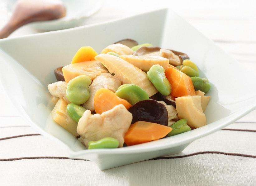 ささみと季節野菜のいため煮