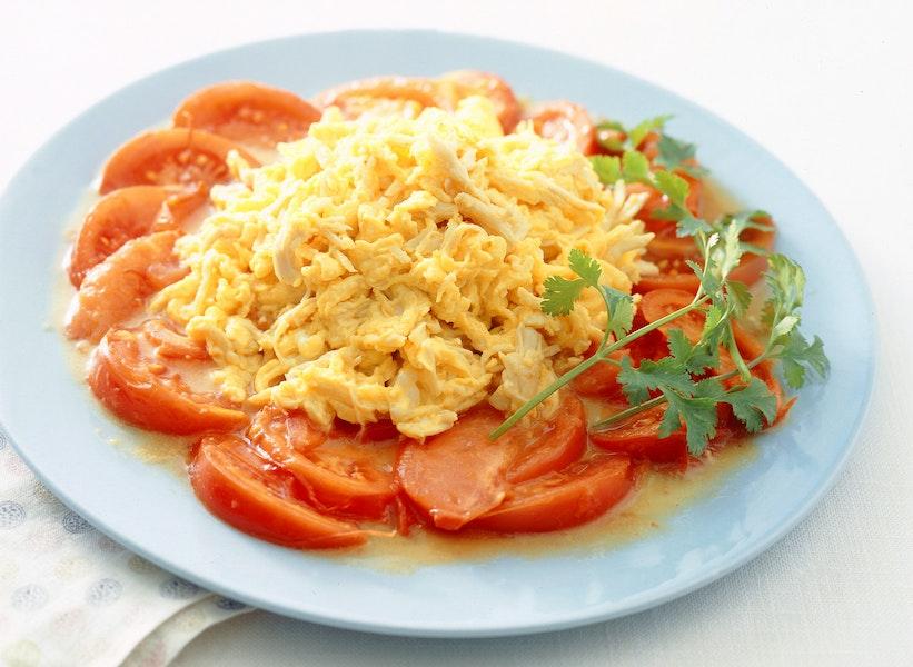 トマトと卵のシンプルいため