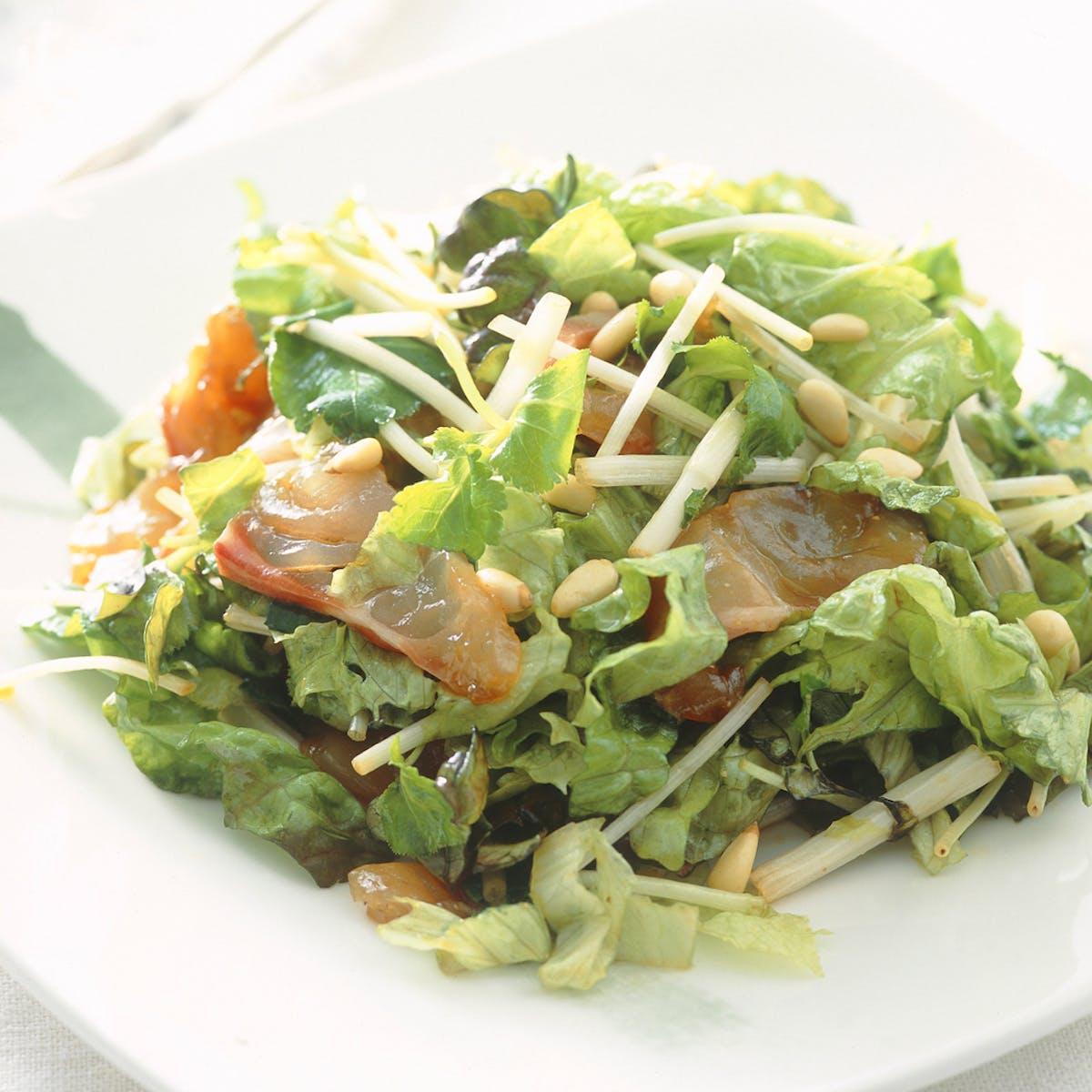 たいと根みつばのサラダ