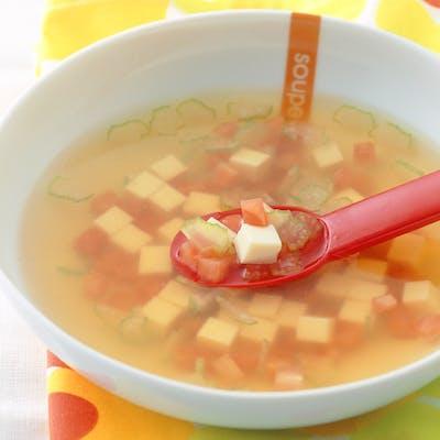 トマトととうふのコンソメスープ