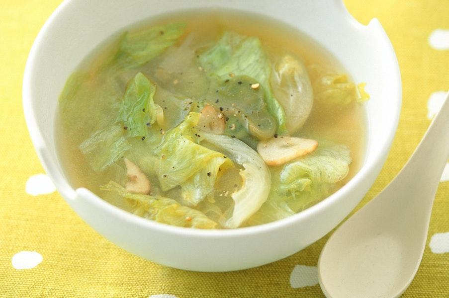 レタスとザーサイのスープ