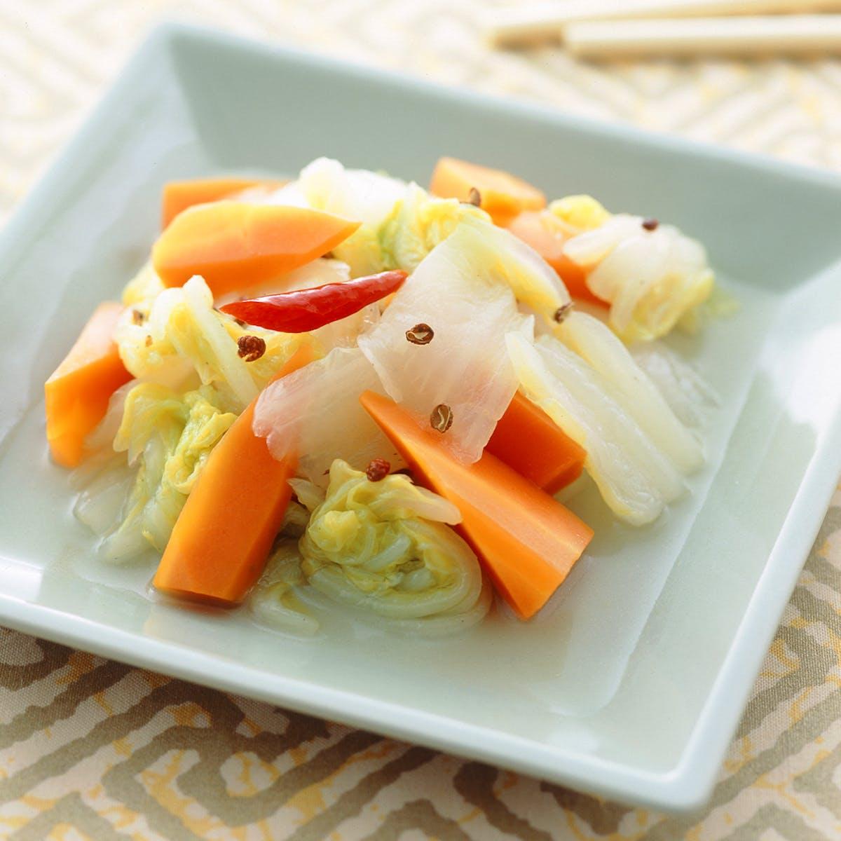にんじん入り辣白菜