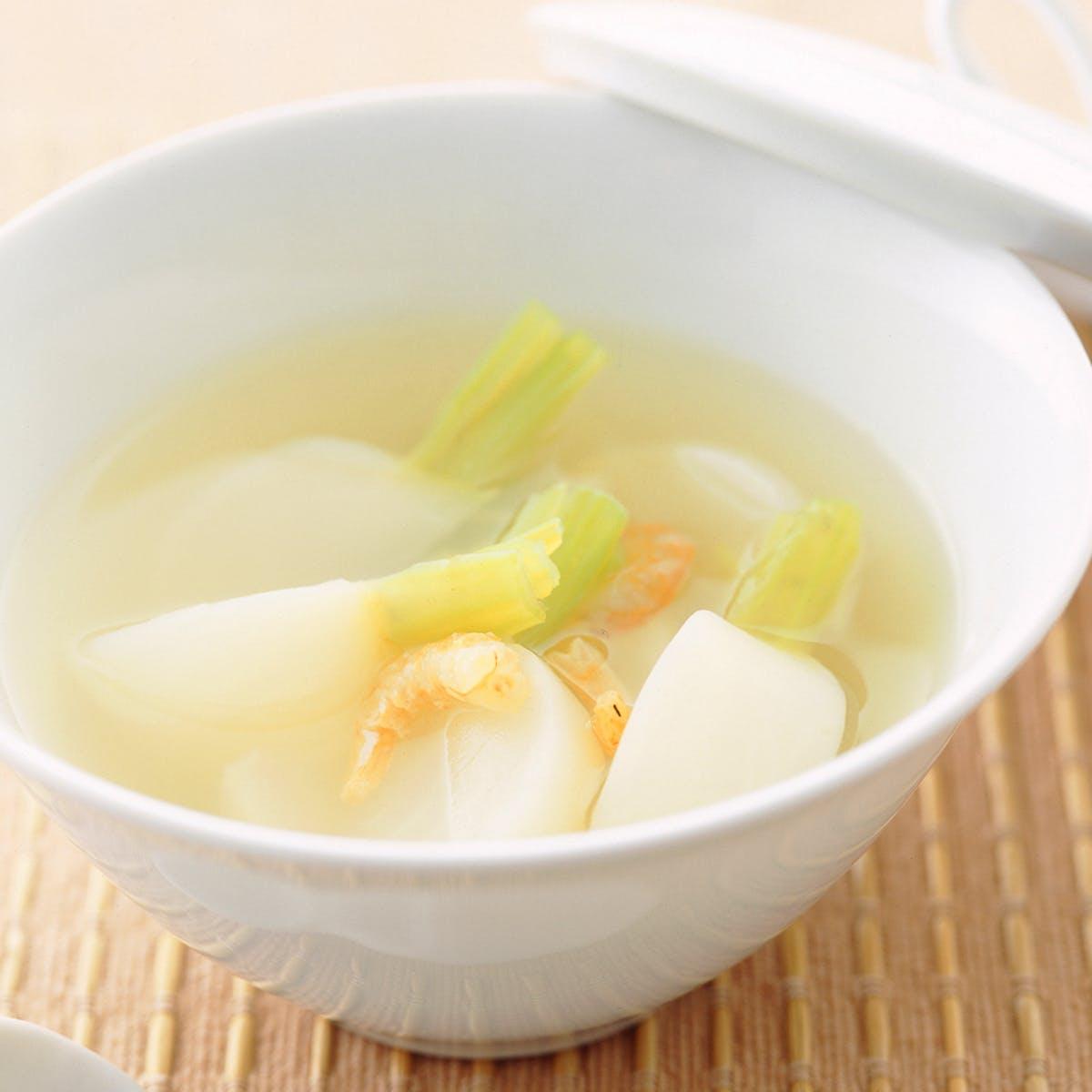 かぶと干しえびのスープ