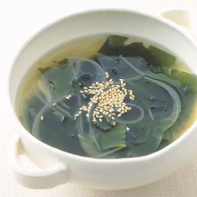 わかめとたまねぎのスープ