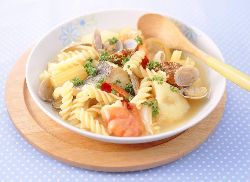 魚介のスープパスタ