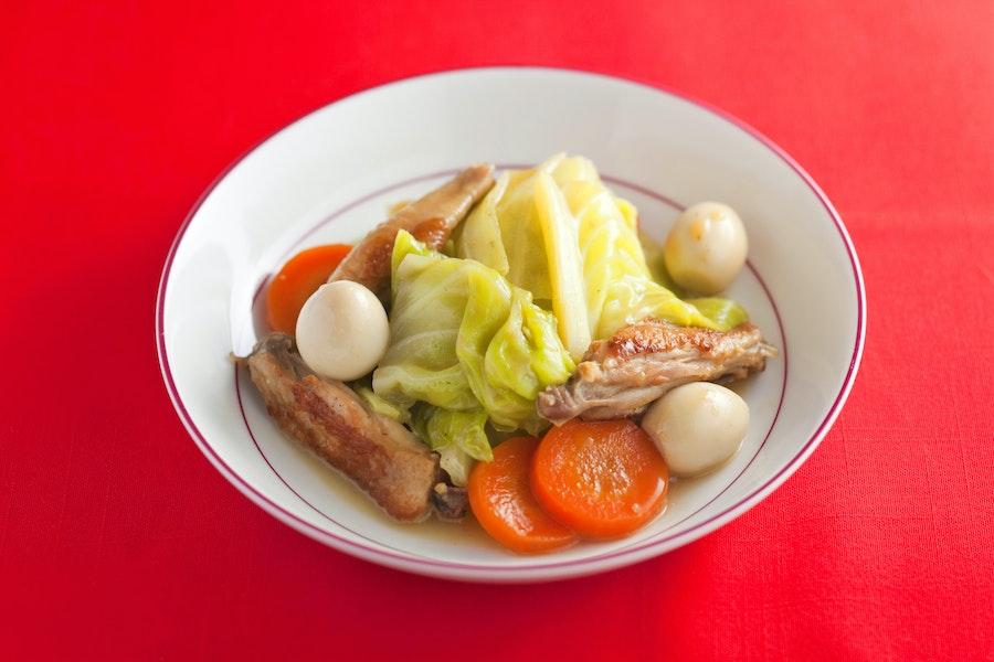 キャベツの中華風スープ煮