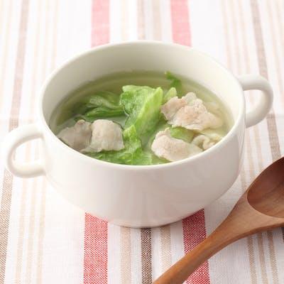レタスと豚肉のスープ