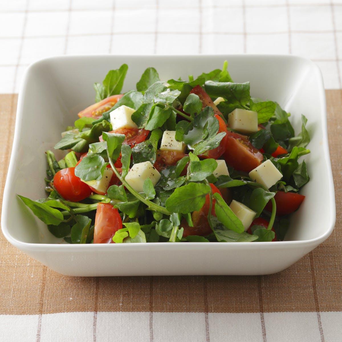 クレソンとミニトマトのサラダ