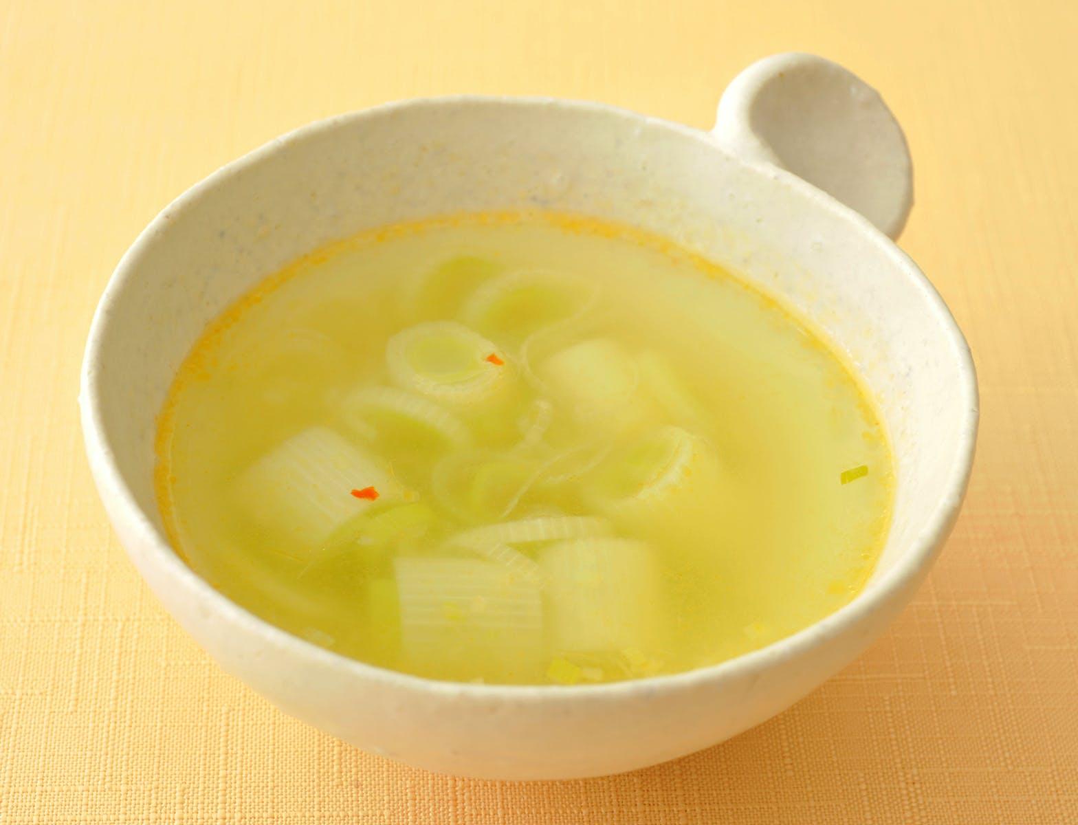 たっぷりねぎのピリ辛スープ