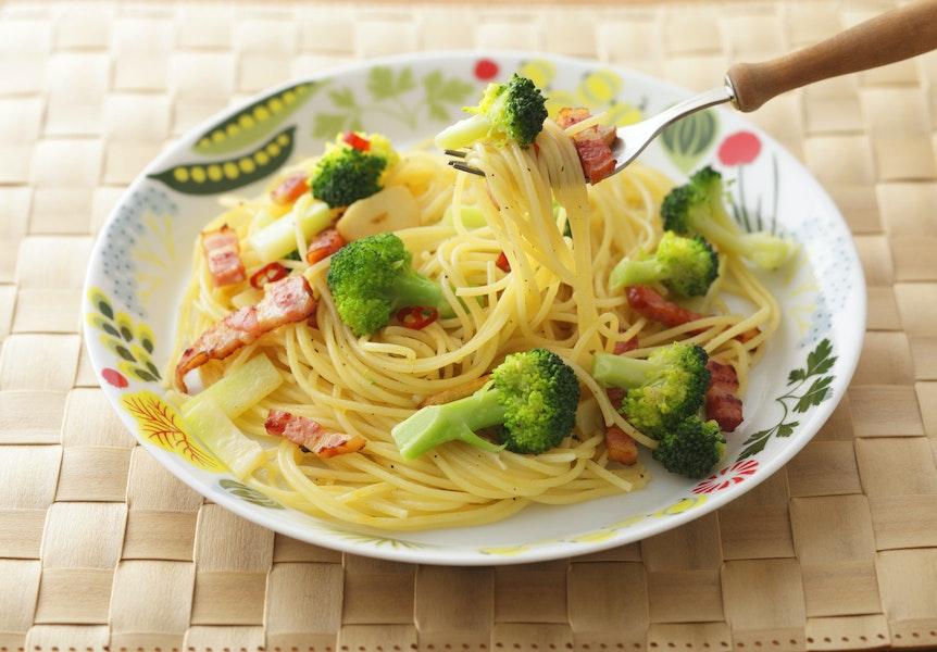 ブロッコリーのペペロンチーノスパゲティ