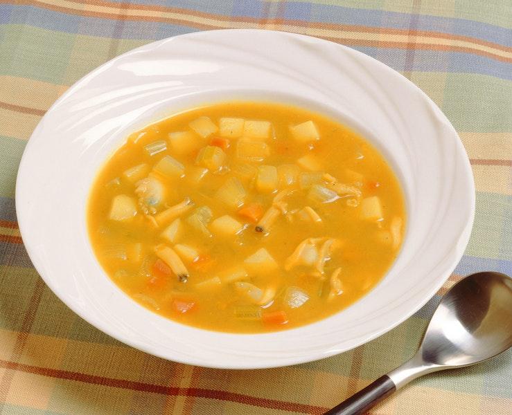 あさりのカレースープ