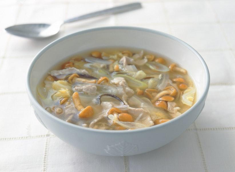 なめこ入り酸味スープ