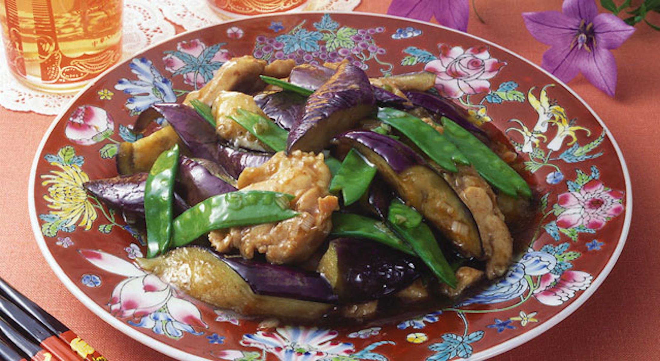 鶏肉となすの豆板醤炒め