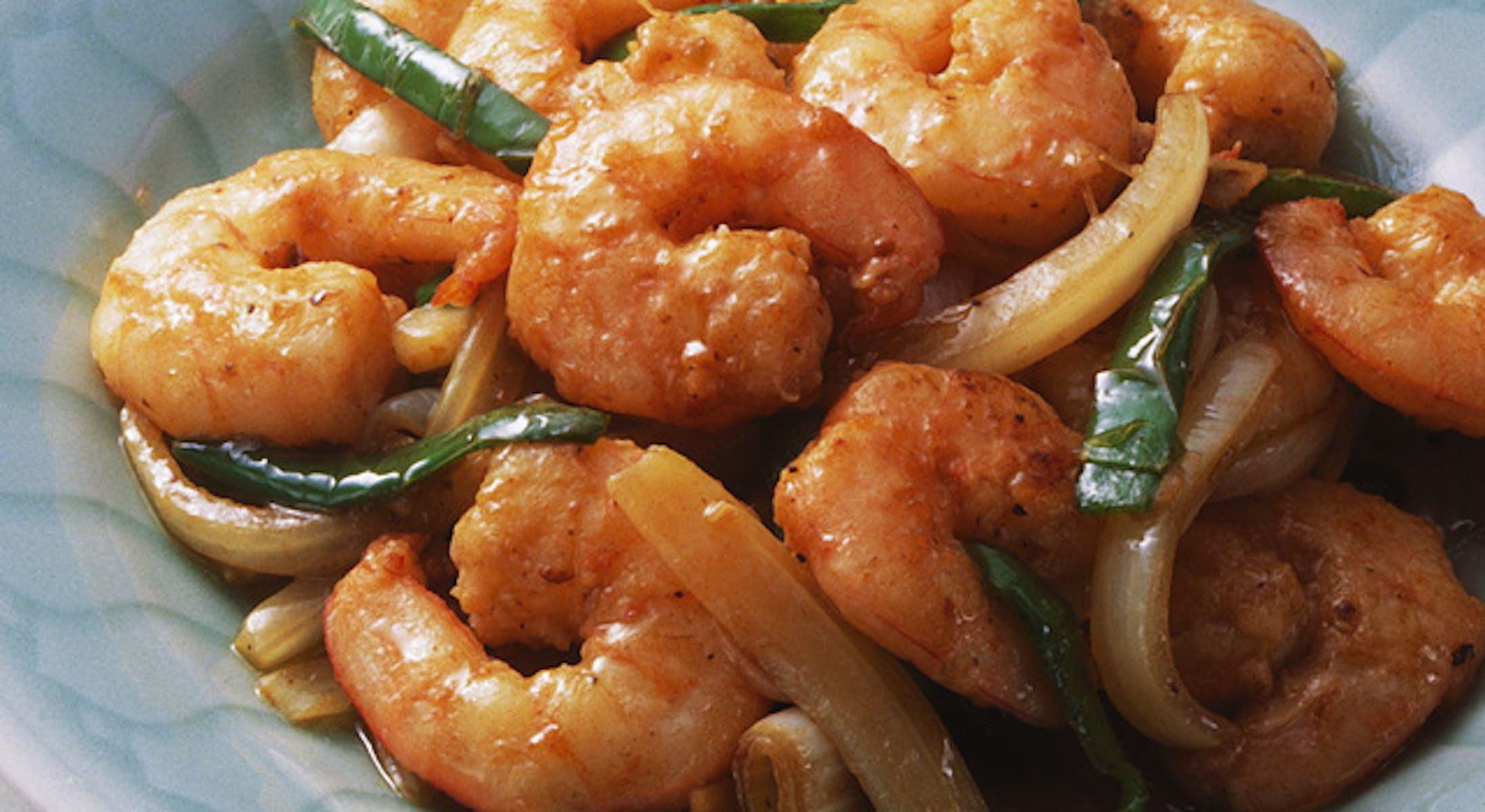 えびと野菜の炒め物