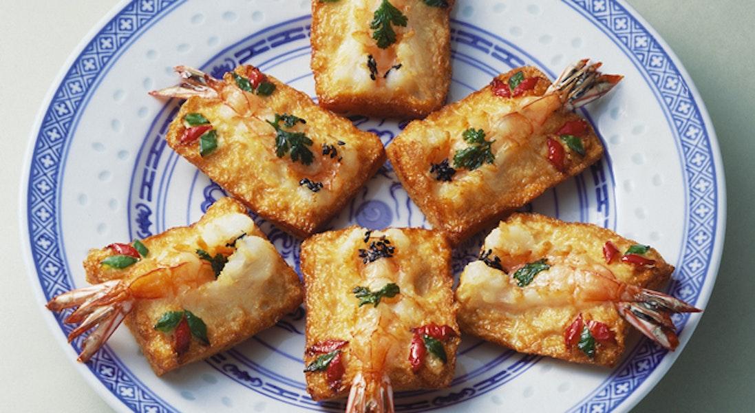 鍋貼明蝦(えびの揚げトースト)