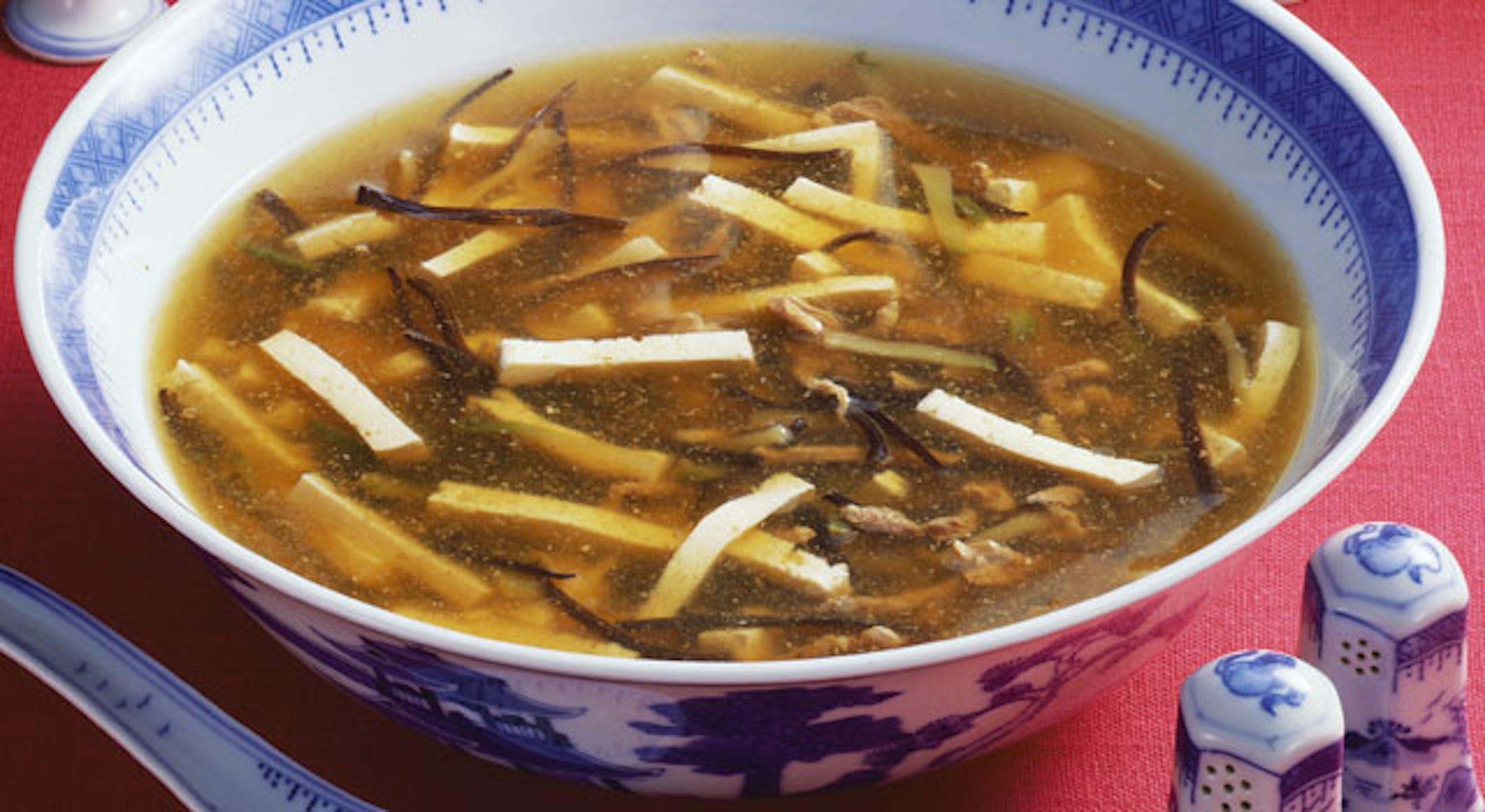酢とこしょう風味のスープ