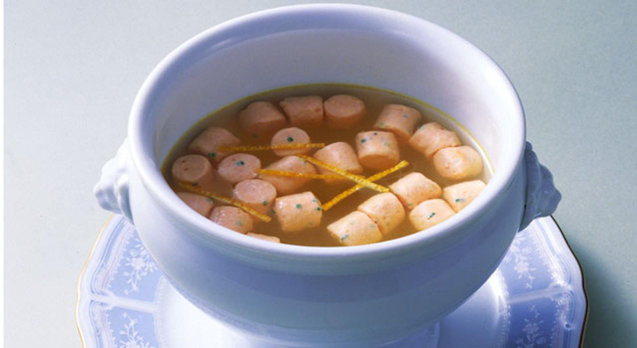 サーモンクネルのスープ