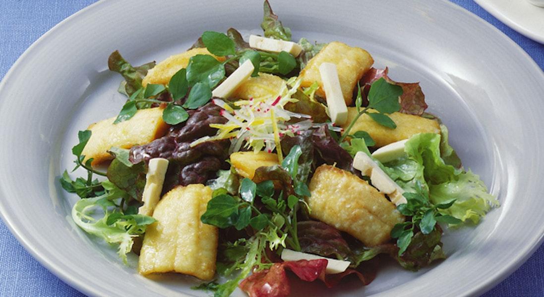 太刀魚のガーリック風味サラダ